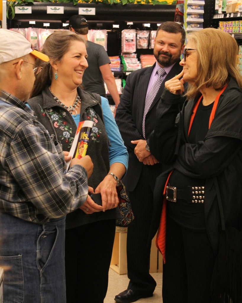 Gloria Steinem at Co-op Market